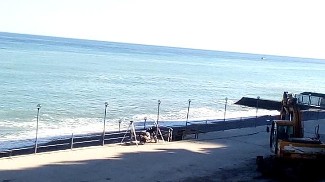 Крым Ялта Реконструкция пляжа Приморский пляж