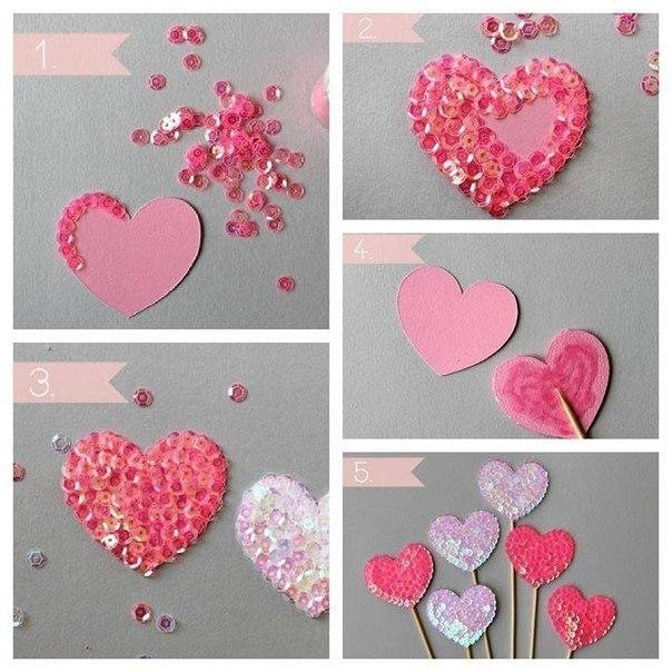 Как сделать сердца своими