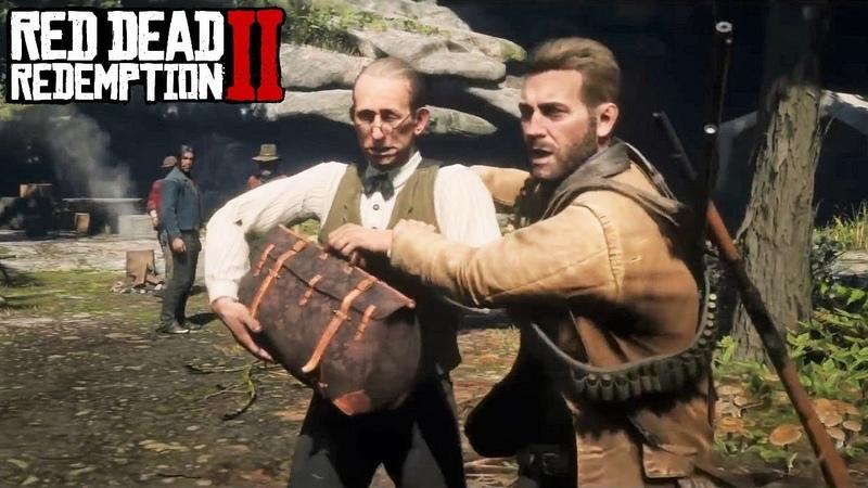 Red Dead Redemption 2 - Артур выгоняет Герра Штрауса из лагеря банды