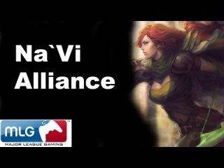 Na`Vi vs Alliance Roshan Steal - MLG Dota 2