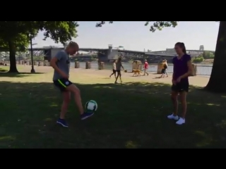 A bit of footie Monday Motivation from Рauline Вremer and Jill Scott JS8 out in Portland! Мancity