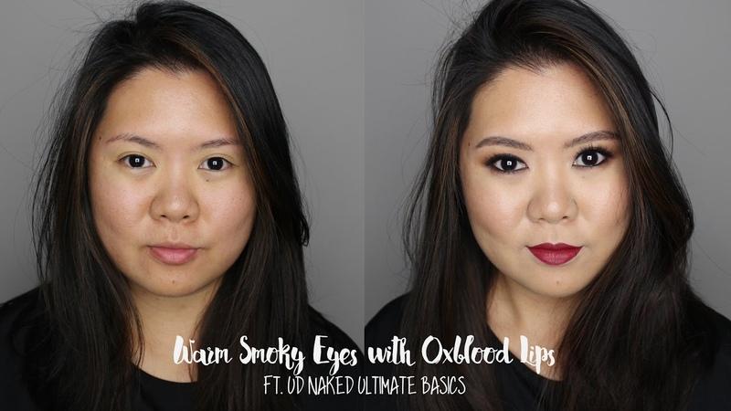 Warm Smoky Eyes Oxblood Lips | UD Naked Ultimate Basics | Kirei Makeup