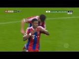 David Alaba Amazing Free Kick ~ Bayern Munich vs Eintracht Braunschweig 1-0 ~ 2015 [DFB Pokal](HD)