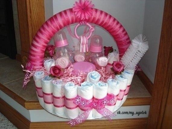 Идеи подарков для самых маленьких Присылайте свои торты из подгузников