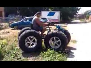 Вездеход, мини трактор из мотоблока Нева Синий Кабан 4