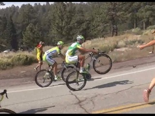 Tour of California 2014 - stage 6 - Peter Sagan's wheelie on the climb