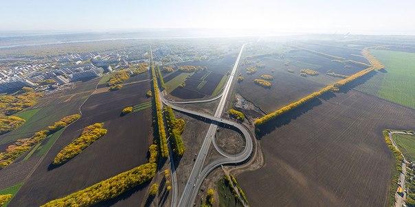 """Развязка на Васхнил - советское шоссе.  Новосибирская компания  """"Сибмост """" завершила строительство путепровода в районе..."""