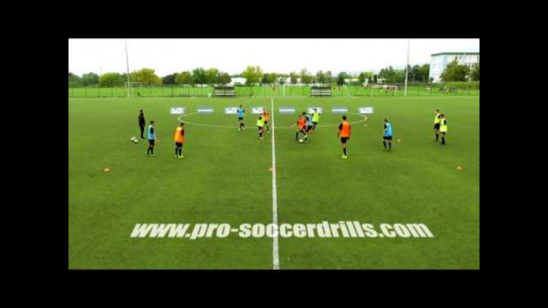 Small Sided Soccer Game - Ball Protection with Neutral Players