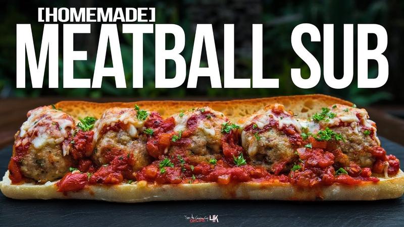 Meatball Sub Sandwich Recipe | SAM THE COOKING GUY 4K