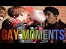 KPOP IDOLS BEING GAY Try not to fangirl fanboy