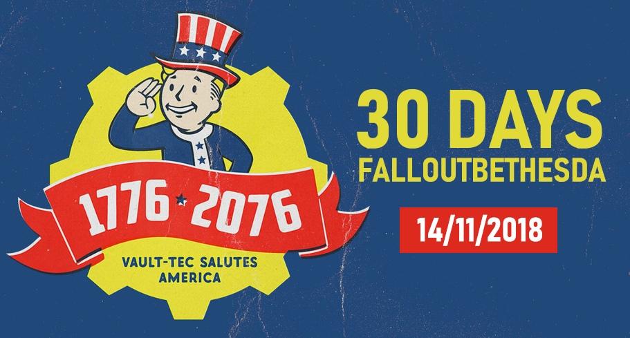 До выхода Fallout76 30 дней!