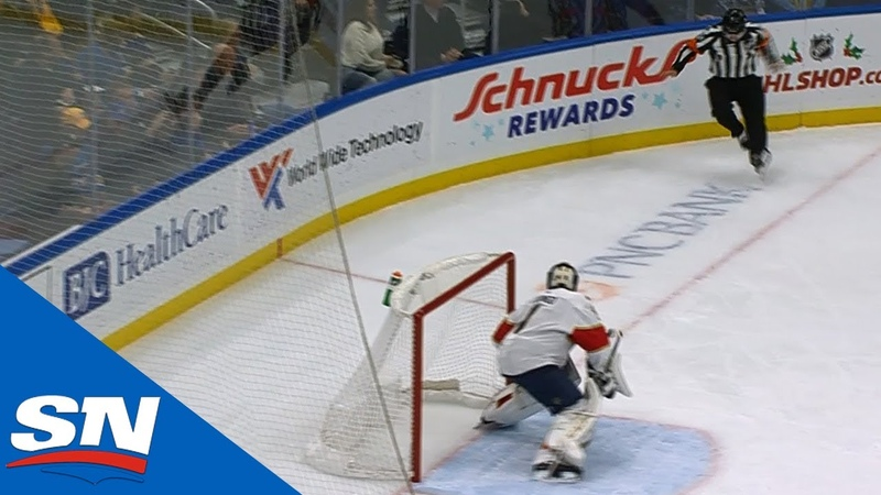 St Louis Blues Goal Called Back For Deflecting Off Referee Tim Peel's Mid Section