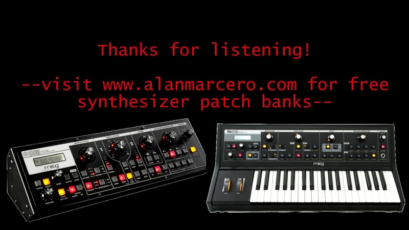 Moog Slim Little Phatty Alan-M Trance / EDM Soundset -- Analog Synth Audio Demo