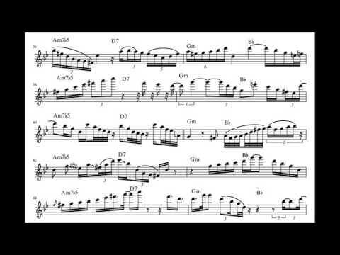 Art Blakey - Moanin' (Benny Golson Solo Transciption)