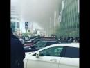 Пожар рядом с Киевским вокзалом