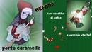 Befana porta caramelle con vasetto di vetro e vecchie stoffe/ riciclo creativo