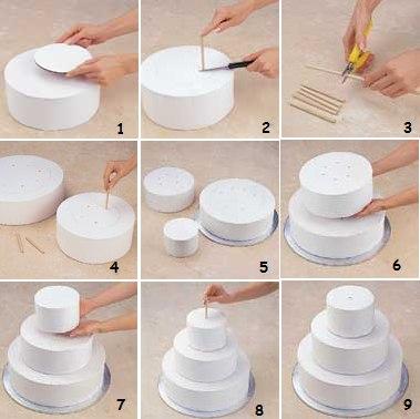 Как сделать многоярусный торт из мастики