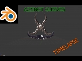 Blender 3d - Клинки Аззинота || Timelapse by SP
