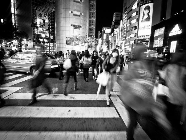 Район Сибуя - центр ночной жизни Токио
