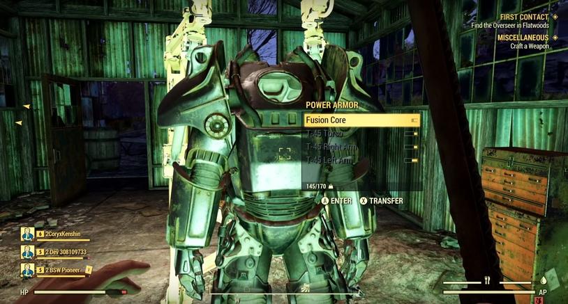 Ядерный блок силовой брони в Fallout 76