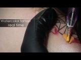Как делать тату акварель - процесс и техника нанесения акварельные татуировки - Тату мастер Алексей Михайлов.