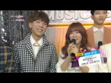 B.A.Ps Himchan & Youngjae Interview with Soyou x JungGiGo & CNBLUE @ Music Bank