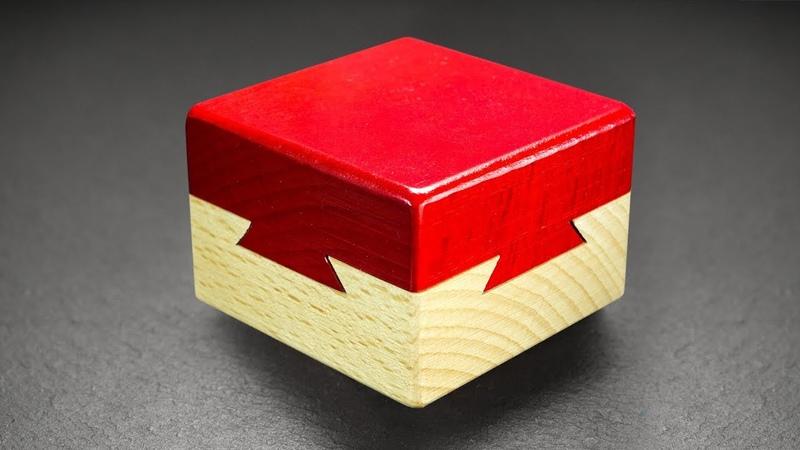 Шкатулка с секретом Ласточкин хвост Dovetail box