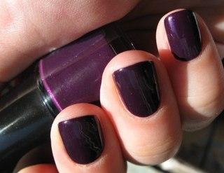 """...пользуюсь этой косметикой, недавно купила лак для ногтей  """"100% цвета """", тон -  """"Фиолетовый Ирис """"."""