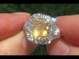 EGL USA Natural VS2 Fancy Yellow Diamond 18k Gold Engagement Wedding Ring - C433