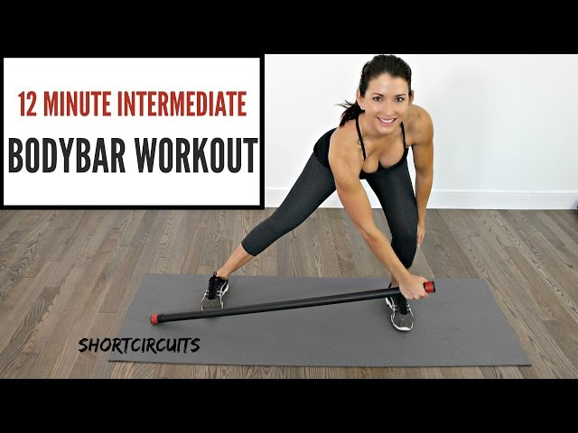 ULTIMATE 12 MINUTE BODYBAR WORKOUT - BEGINNER TO INTERMEDIATE