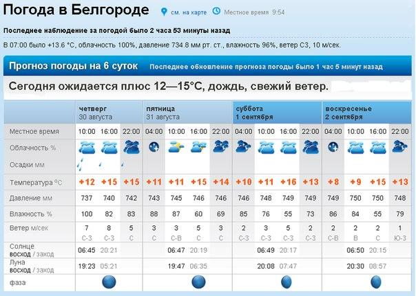 погода в белгороде на завтра и послезавтра возвращении командировки сотрудник