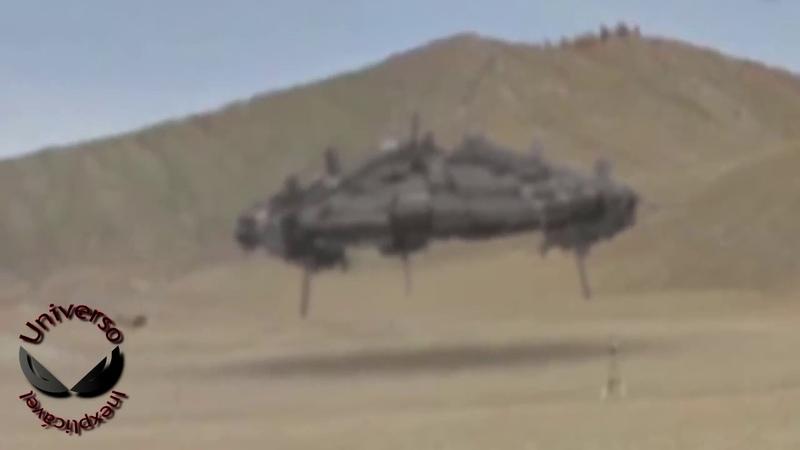 Gigantesco OVNI é filmado por turistas entrando no modo furtivo no Forty Mile EUA UFOs OVNIs 2018