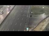 El video del auto que volo por la General Paz a 170 kmh