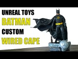 UNREAL TOYS CUSTOM WIRED CAPE FOR THE HOT TOYS 1989 BATMAN