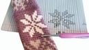 ЖАККАРД по кругу КРЮЧКОМ без накида Без смещения узора За заднюю полупетлю Жаккард снежинка