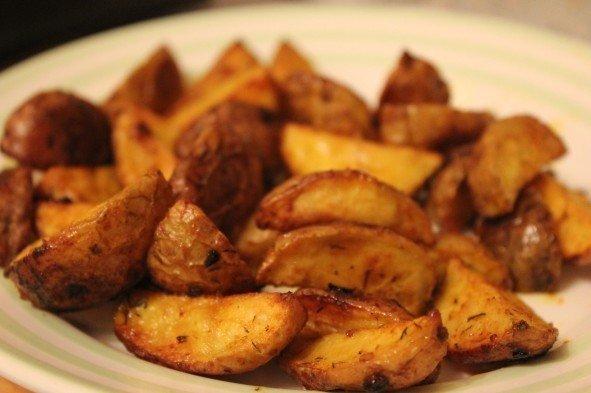 Картофель айдахо. Действительно очень вкусно!)