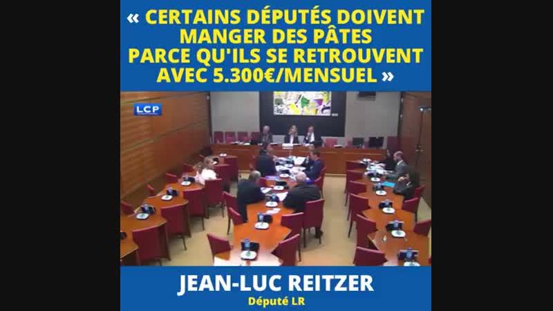 Sortez les mouchoirs ! Jean-Luc Reitzer (député LR) estime que « les députés ne sont peut-être pas a.mp4