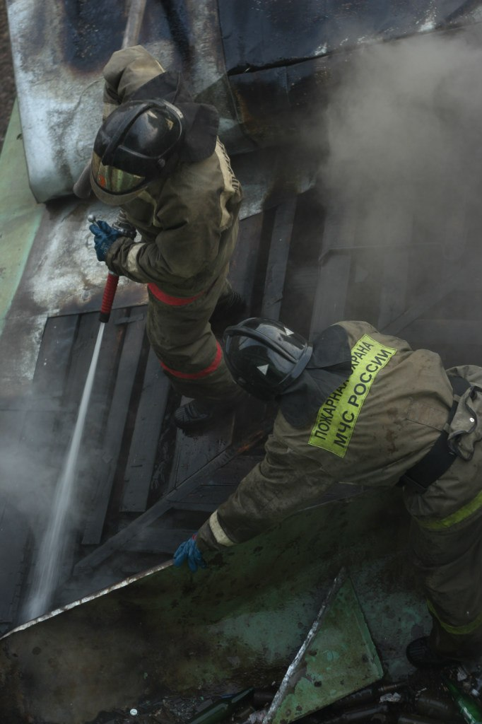 Пожар на станции в Одинцово.