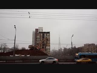 Снос дома № 18 по проспекту Маршала Жукова