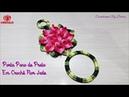 Porta Pano de Prato em Crochê Flor Jade