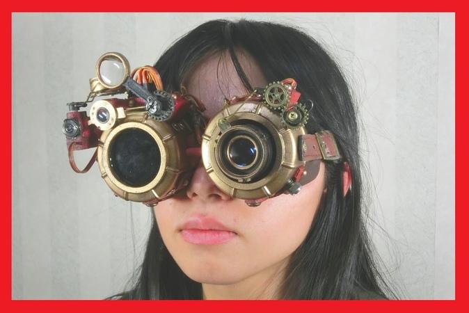 中二全開!自動可変式スチームパンクゴーグルを作ったった! steampunk auto goggles