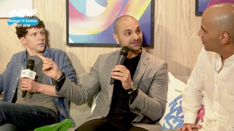 Jesse Eisenberg, Michael Mando, Kim Nguyen Interview – Hummingbird Project – TIFF 2018