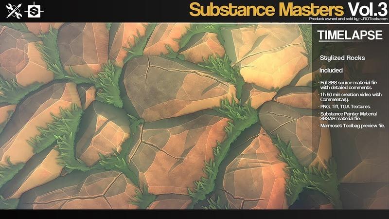 Substance Masters StylizedRocks time lapse