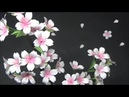 (ペーパーフラワー)可愛い!コピー用紙で桜の花の作り方【DIY】(Paper Flower) Cute
