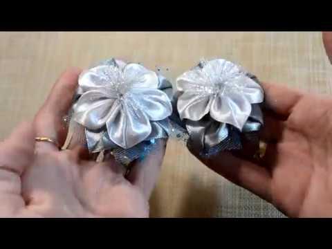 🌺Ribbon Flowers🌺 Цветы из ленты 2 5см🌺 6см🌺 Tutorial DIY