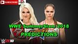 WWE SummerSlam 2018 Raw Womens Championship Alexa Bliss vs Ronda Rousey Predictions WWE 2K18