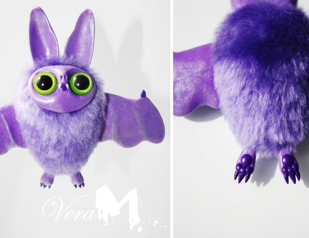Летучие мышки. Авторская игрушка. (4 фото) - картинка