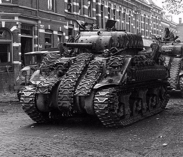 Дополнительное усиленное бронирование танка Sherman. II мировая война.