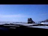 Пробка в сторону Волгограда на дороге М-21 Волгоград-Морозовск 12.12.2013