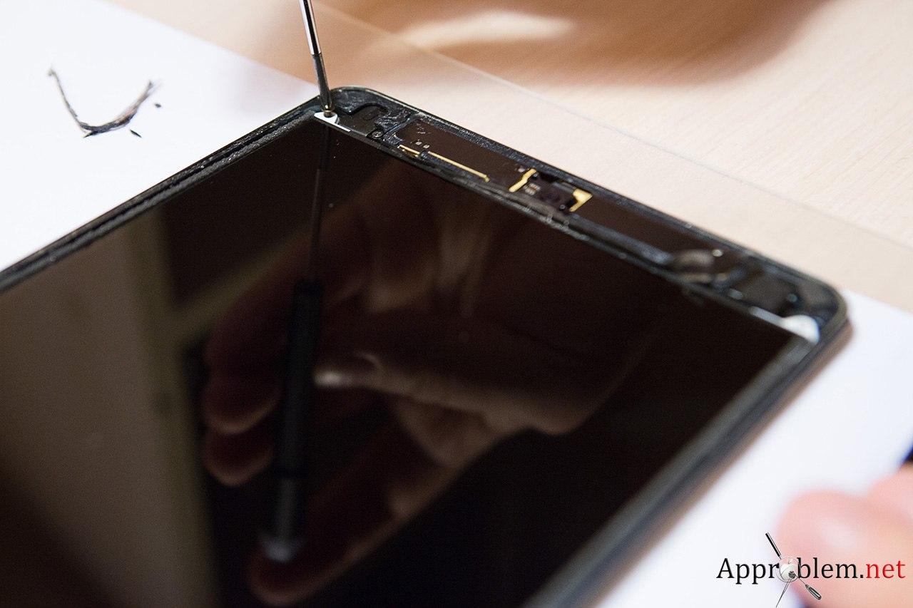 как заменить разбитое стекло iPad mini инструкция ремонт сервис